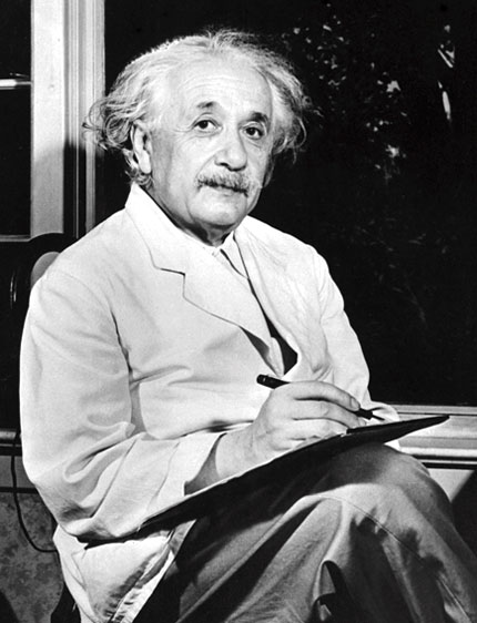 Albert Einstein in his later years at Princeton