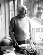 Albert Einstein at home in Princeton
